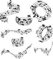 Note musicali astratte vettore
