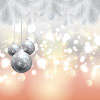 Albero di Natale e sfondo di palline