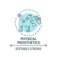 icona del concetto di protesi fisiche vettore