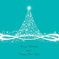 Sfondo decorativo dell'albero di Natale