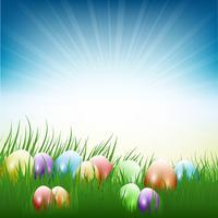 Uova di Pasqua in erba
