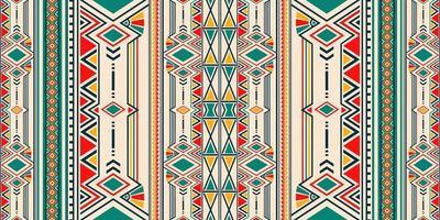 Ornamento folcloristico geometrico ikat per ceramica, carta da parati, tessuto, web, carte. modello etnico. ornamento di confine. design nativo americano, navajo. motivo messicano, ornamento azteco vettore