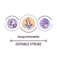icona del concetto di vulnerabilità energetica vettore