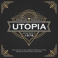 Design del telaio linea vintage per etichette, banner, logo, emblema, appa vettore