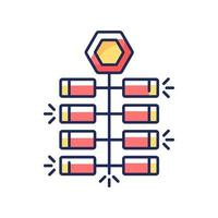 petardi cinesi icona di colore rgb vettore