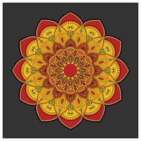 Mandala colorato vintage con ornamento floreale. Stile boho backgr vettore