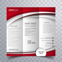 Design elegante modello di brochure opuscolo ondulato creativo
