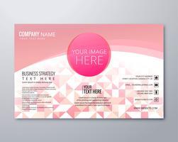 Vettore geometrico moderno rosa del modello dell'opuscolo di affari