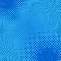 Priorità bassa comica di arte di schiocco di semitono blu vettore