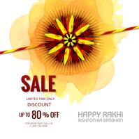 Banner di vendita o poster per il festival indiano di raksha bandhan cele vettore