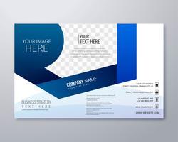Elegante design elegante modello di brochure aziendale