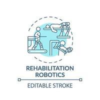 icona del concetto di robotica di riabilitazione vettore