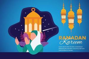 banner festival tradizionale con decorazioni islamiche vettore