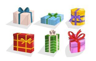 collezione di scatole regalo vettore