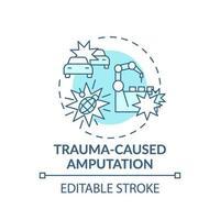 icona del concetto di amputazione causata da traumi vettore