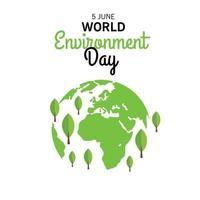 illustrazione vettoriale per la giornata mondiale dell'ambiente.