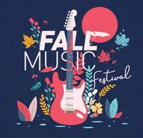 vettore del festival musicale di caduta