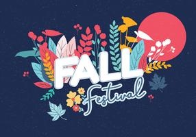 autunno festival vettoriale