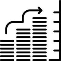 icona linea per grafico a barre vettore