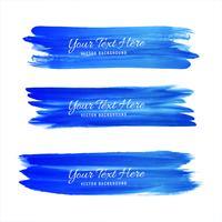 Disegno di tonalità blu del colpo dell'acquerello disegnato a mano vettore