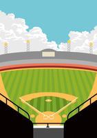 Vista del parco di baseball