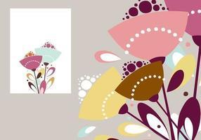 Pacchetto di sfondi per l'illustratore floreale astratto vettore