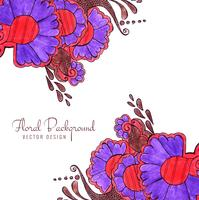 Fondo floreale di nozze creative decorative variopinte astratte