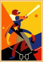Illustrazione di concetto di parco di baseball