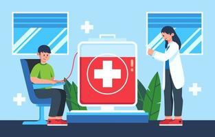 attività della giornata mondiale del donatore di sangue vettore