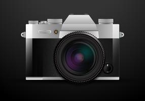 Fotocamera DSLR realistica vettore