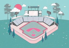 vettore del parco di baseball