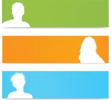 Banner di persone avatar