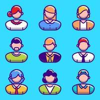 collezione di icone di persone vettore