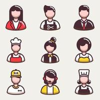 collezione di icone di uomini d'affari vettore