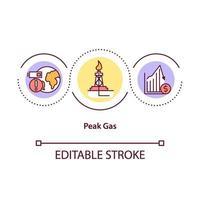 icona del concetto di picco di gas vettore