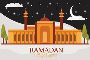 illustrazione celebrativa di ramadan mubarak vettore