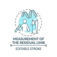 icona del concetto di misurazione dell'arto residuo vettore