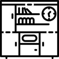 icona linea per scaffali vettore