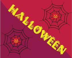 sfondi di auguri di halloween felice vettore