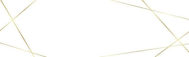 luminose linee dorate su sfondo bianco - vettore