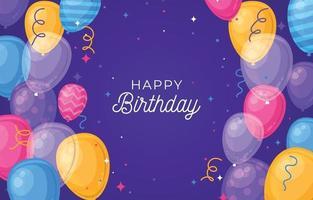 sfondo palloncino festa di compleanno vettore