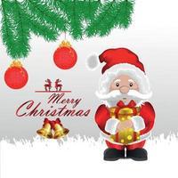 illustrazione vettoriale creativo di santa clous per buon natale su sfondo bianco