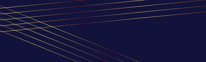 luminose linee dorate su sfondo blu - vettore