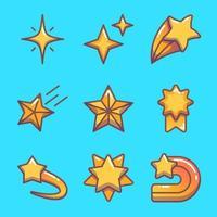 collezione di icone di stelle vettore