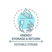 icona del concetto di accumulo e ritorno di energia vettore