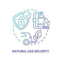 icona del concetto di sicurezza del gas naturale vettore