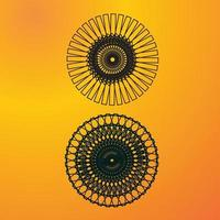 un modello complesso di cerchi geometrici circolari neri vettore