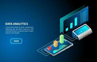progettazione isometrica del concetto di analisi dei dati vettore