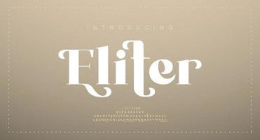 carattere di lettere dell'alfabeto di lusso elegante. lettere classiche minimal design di moda moderna. carattere serif moderno tipografia vettore