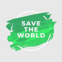 salvare il mondo ecologia acquerello arte pennello vernice sfondo astratto. vettore